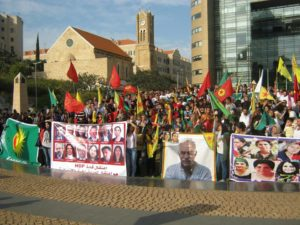 A protest in solidarity with the Kurds in Turkey, Beirut, November 20, 2016