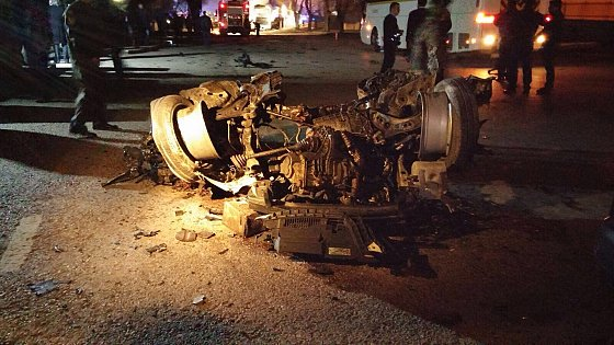 Ankara bombing February 17, 2016: remains of the car bomb. Yıldız Yazıcıoğlu.