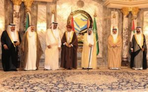 Gulf leaders gathered in Riyadh with their host Saudi King Abdullah ibn Abdul Aziz on May 14, 2012