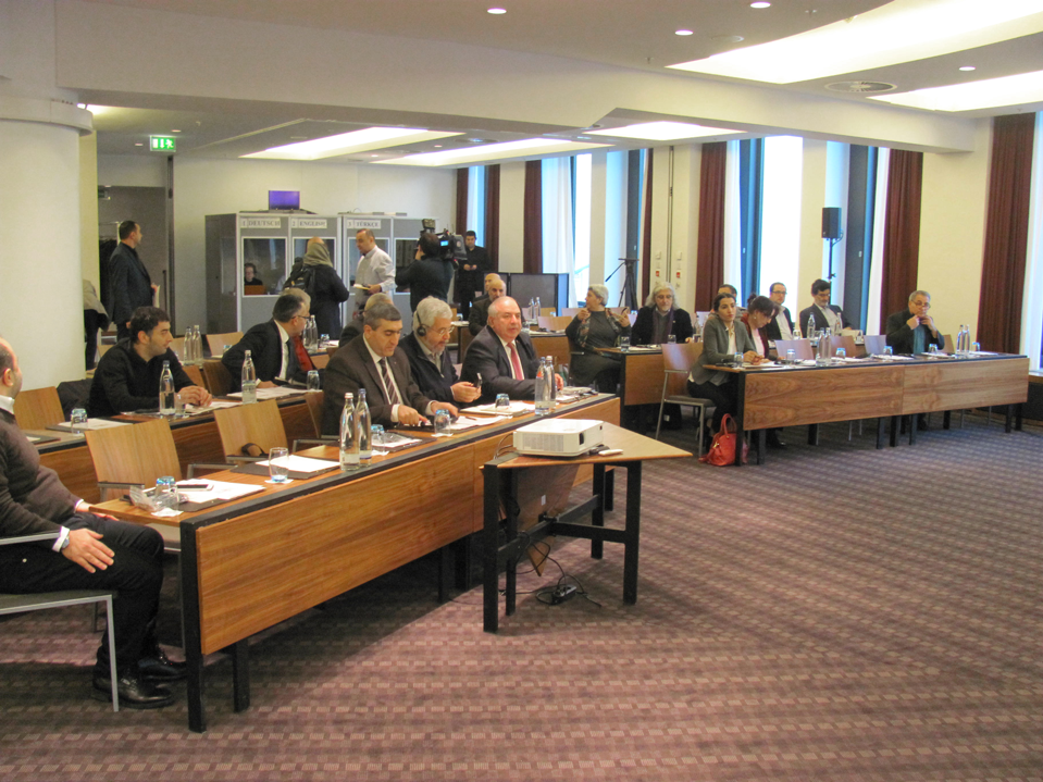 """On the occasion of the tenth anniversary of the assassination of Hrant Dink, a conference of the Peoples of Asia Minor was held at the Sofitel in Berlin, on the 28 and 29 of January 2017. The motto of the conference was """"UNITED in RIGHTS"""".  Four members of Parliaments from different countries, representatives of five political parties and 15 civil society organizations participated. They dealt with the following topics; Democracy, Dialogue and Justice, analysis of losses,aspects of corrective measures. The conference was followed by a round table discussion regarding a roadmap and perspectives and appointed a Commission called """"THE 19 JANUARY INITIATIVE"""".   The Commission will further the efforts to build a constructive dialogue to bring the peoples of Asia Minor closer together in justice, peace and democracy."""