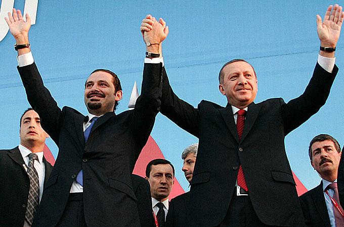 Erdogan with Prime Minister Saad Hariri