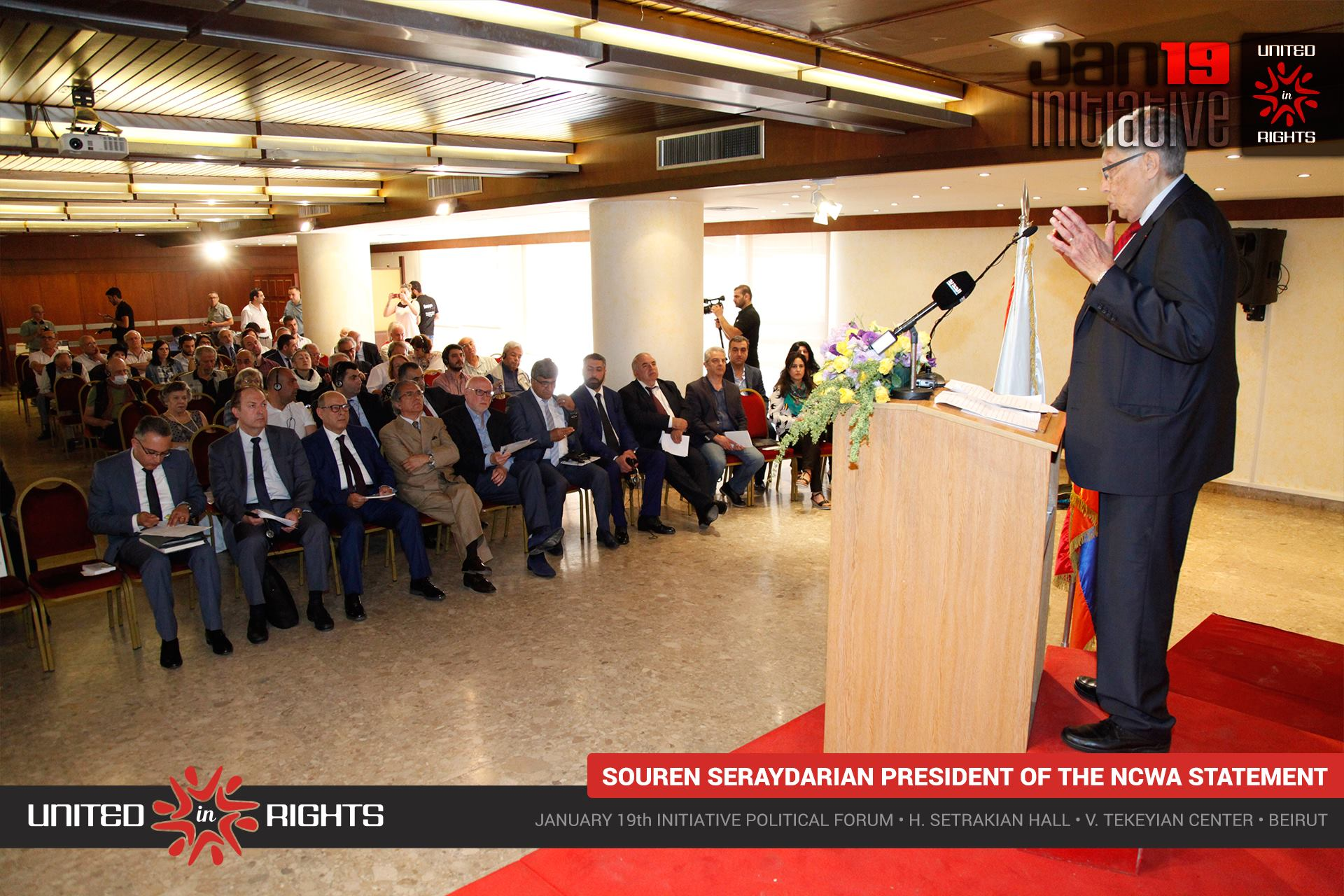 Mr. Souren Seraydarian's statement • president of the NCWA • January 19th Initiative Political Forum