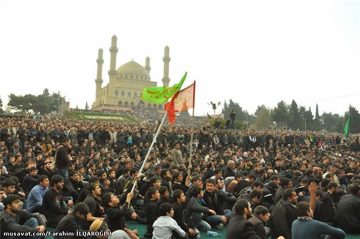 Ashura event in Nardaran, the center for Shi'a Islam in Azerbaijan