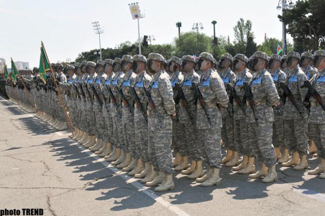 Azerbaijani soldiers in Nakhchivan (Source: Trend.az)