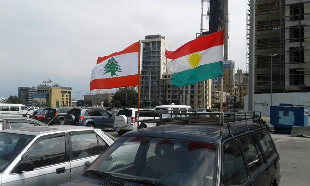 Kurds in Lebanon rally in favor of the referendum